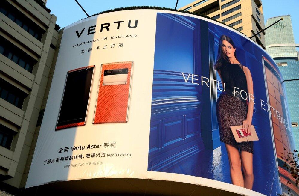 Lukusustelefone tootva Vertu reklaam Shanghais.