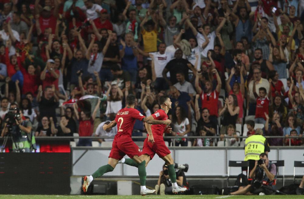 Portugali mängija Andre Silva on löönud värava