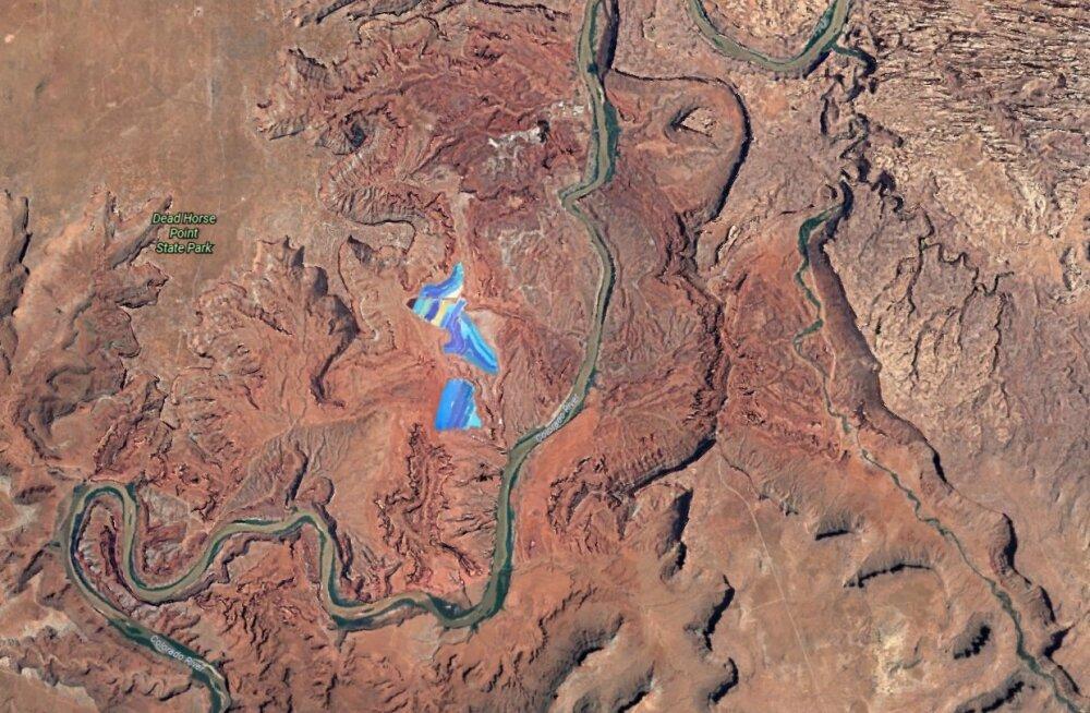 Justkui sulanud vikerkaar: miks on keset Utah osariigi kõrbe sellised sinisekirjud laigud?