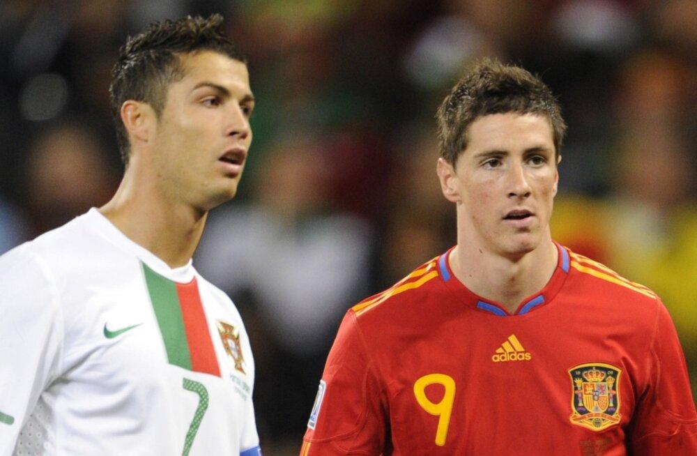 Cristiano Ronaldo ja Fernando Torres