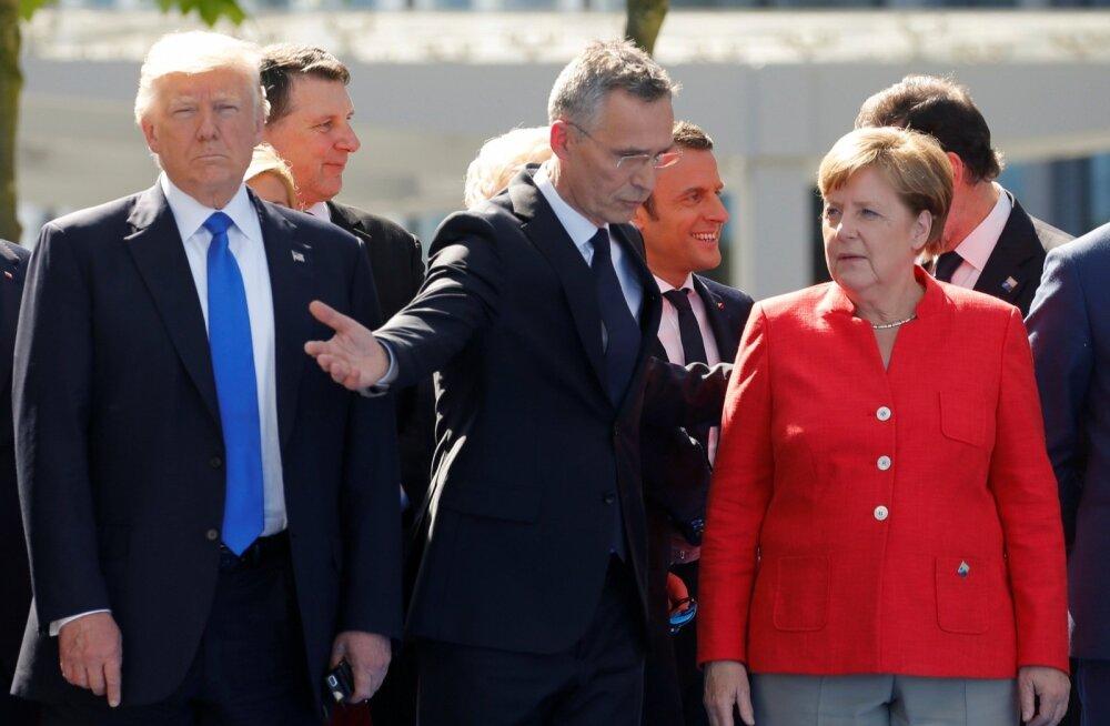 Donald Trump, Jens Stoltenberg, Angela Merkel
