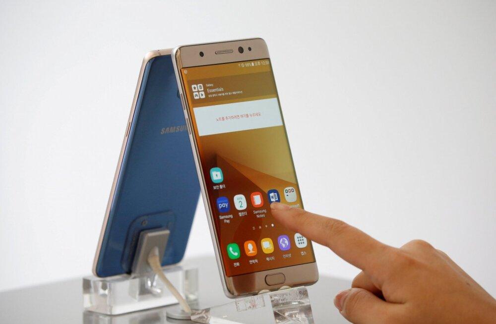 Samsungi kurikuulus nutitelefon Galaxy Note 7 jõuab taas müügile