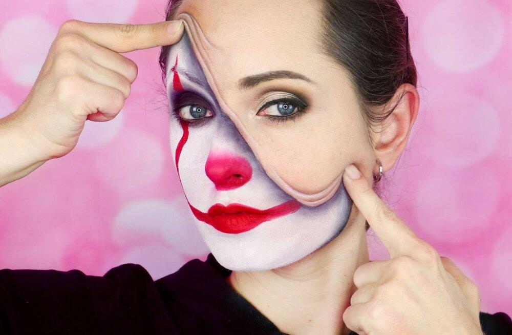 ВИДЕО: Брр! Видеоблогер из Эстонии учит, как сделать самый пугающий макияж на Хэллоуин