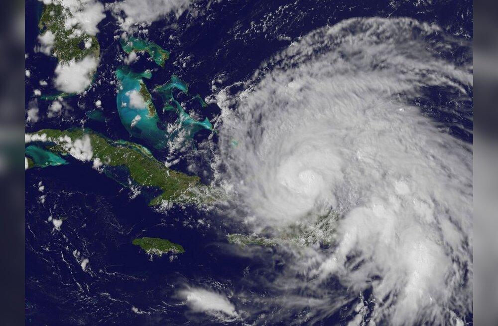 GOES-13 satelliidi tehtud foto orkaanist Irene. Foto NASA, NOAA, HO, AFP