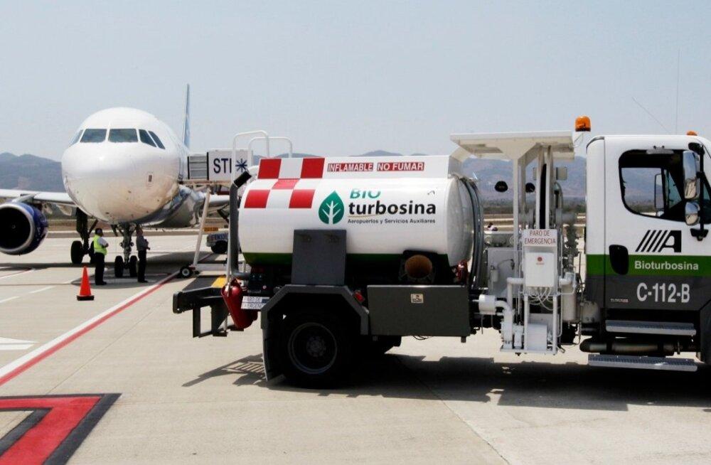 Airbus A320 võtab Mehhikos biokütust paakidesse.