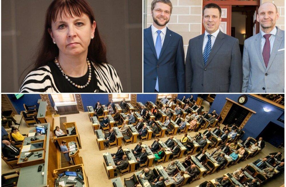 Коалиция Юри Ратаса в Рийгикогу осталась в меньшинстве: Тийна Кангро покинула фракцию Isamaa