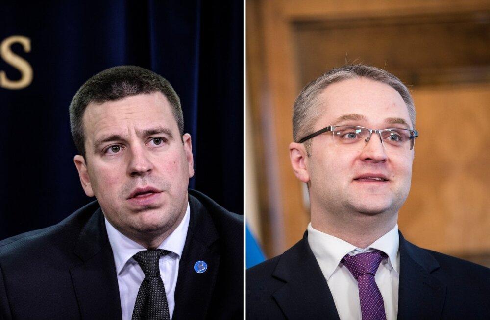 Jüri Ratas ja Janar Holm