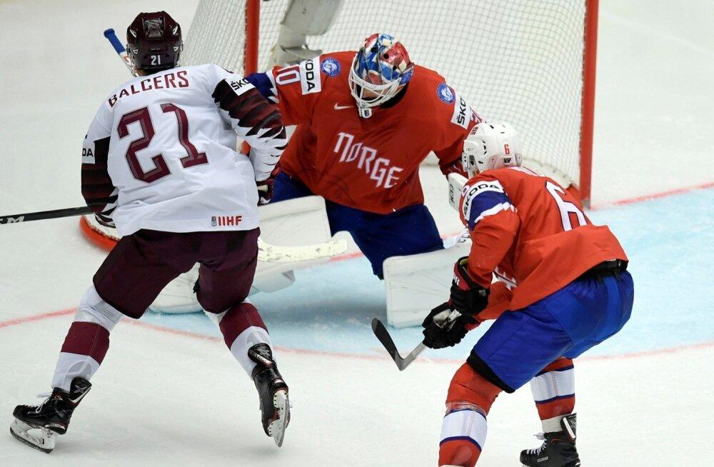 Jäähoki Läti vs Norra
