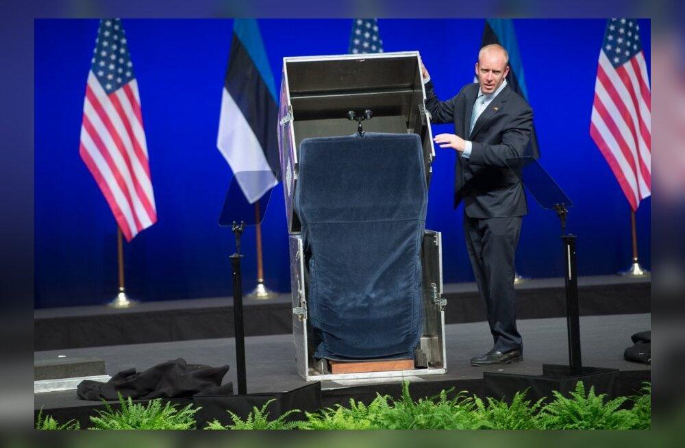 Barack Obama kõnepult pakiti metallist kasti