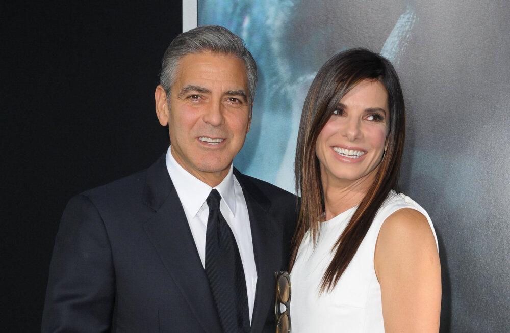 """George Clooney andis Sandra Bullockile """"Oceani 8"""" filmimiseks head nõu"""