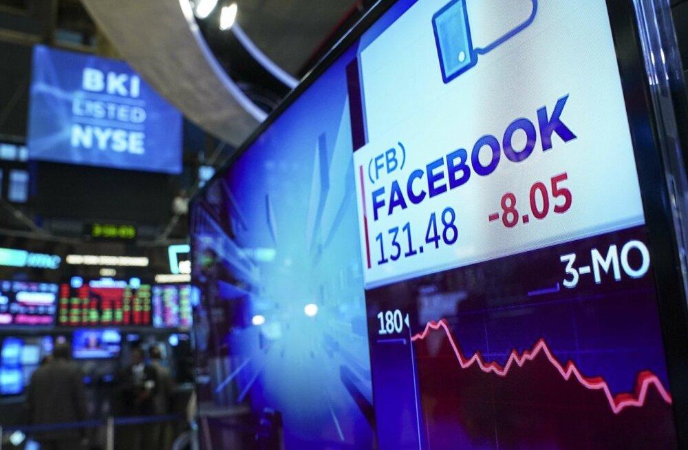 Viimaste päevade tehnoloogiaaktsiate langusest ei ole ka Facebook puutumata jäänud