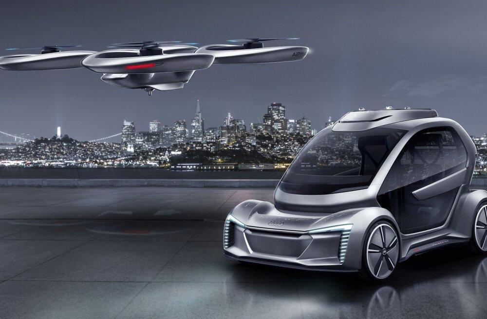 Audi ja Airbus hakkavad katsetama lendavaid taksosid