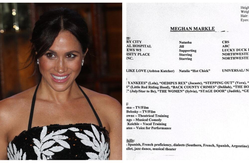 FOTO | Aastatetagune CV paljastab, miks Meghan kunagi Hollywoodis tõeliselt läbi ei löönud
