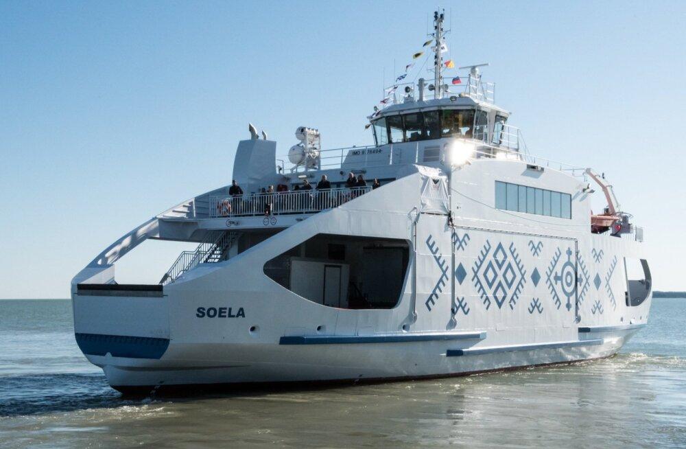 Uus reisiparvlaev Soela juba rivist väljas, hommikul ei sõida ka asenduslaev