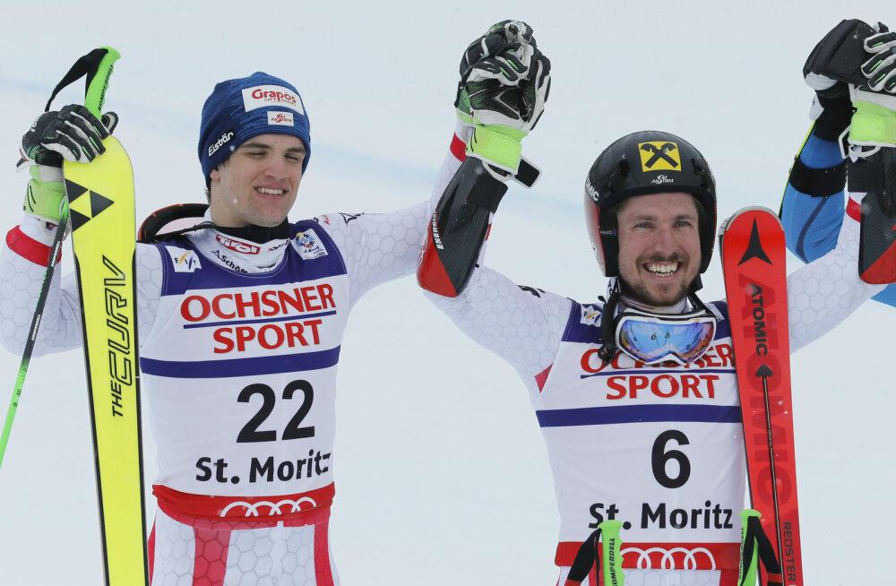 Roland Leitinger ja Marcel Hirscher (paremal)