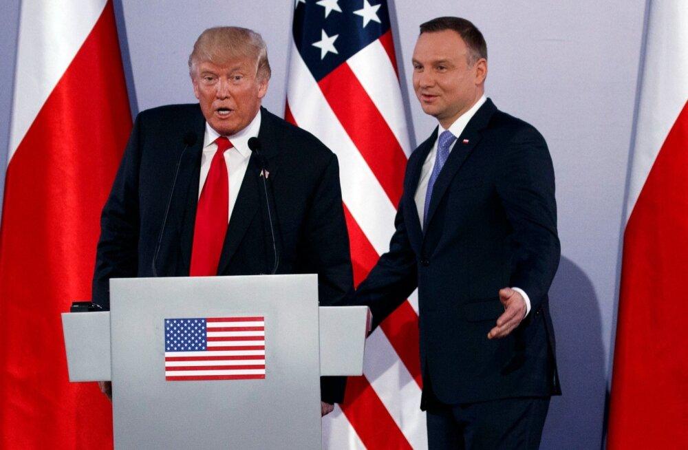 Poola president arutas Trumpiga USA vägede kohaloleku suurendamist riigis