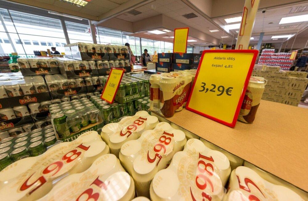 Alko1000 kauplus Lätis Valkas