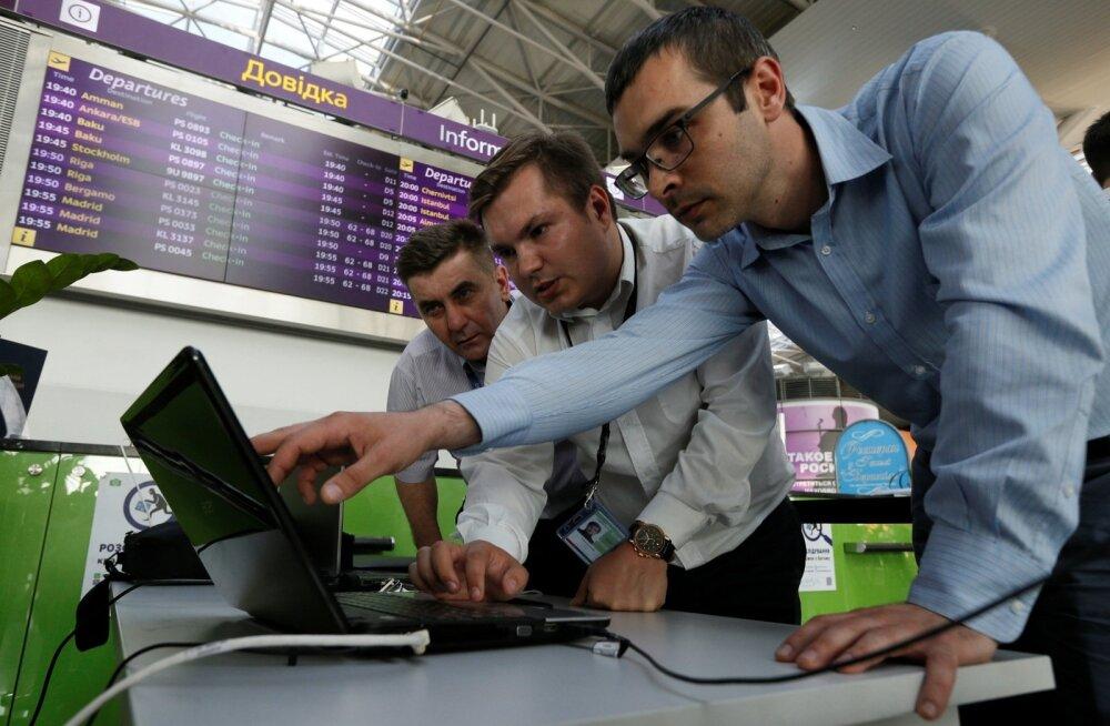 Küberrünnak Kiievi Borispili lennuväjale