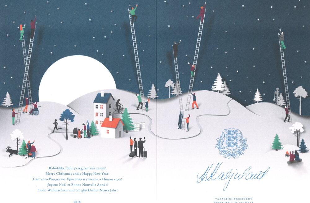 PÄEVAPILT | Vaata, milline on president Kaljulaidi tänavune jõulukaart!