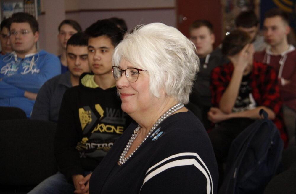 Открытый урок экс-министра Марины Кальюранд прошел в Ярвеской Русской гимназии Кохтла-Ярве