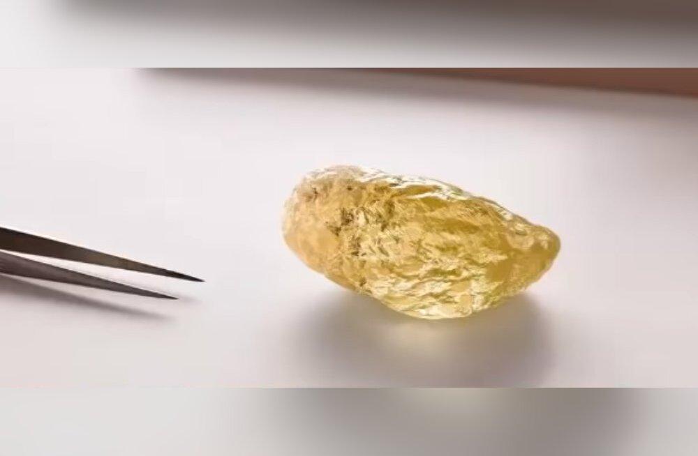 Гигантский желтый алмаз — неожиданная находка в Канаде