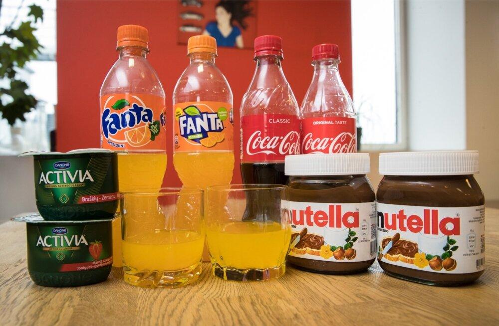 Eesti ja Soome bränditoodete maitsetest