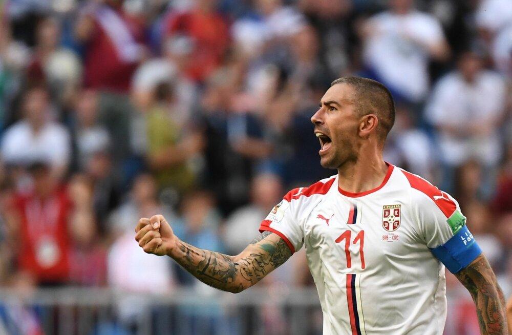 Aleksandar Kolarov tähistamas Costa Rica vastu löödud väravat.