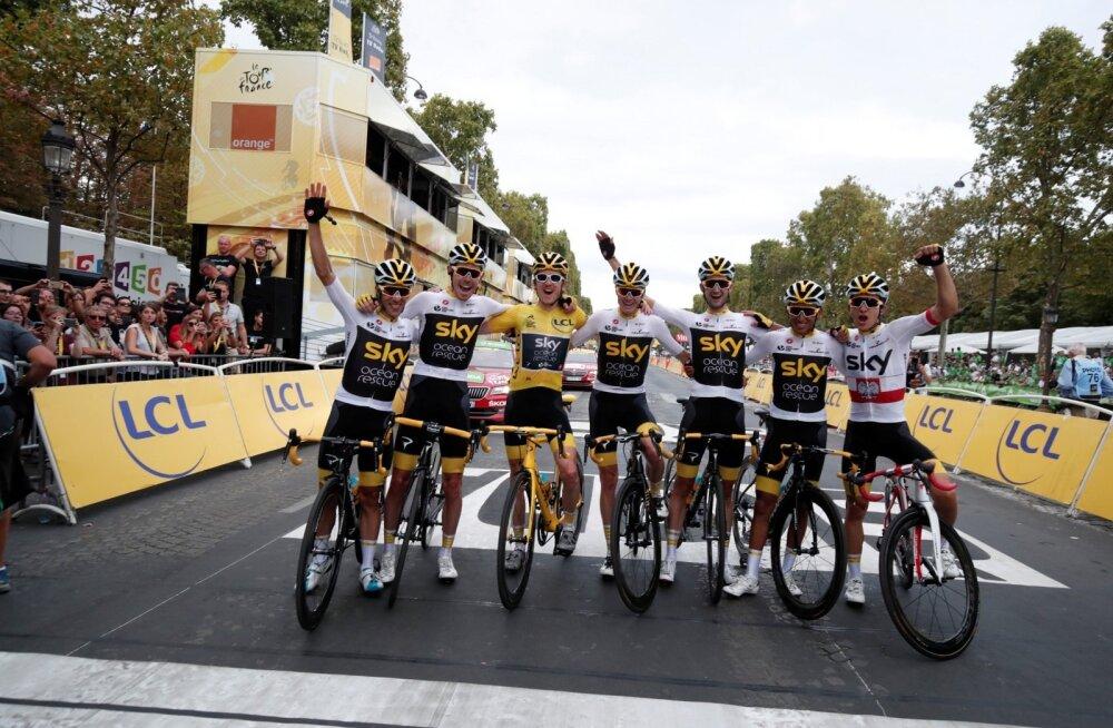 Sky meeskond Tour de France´i finišis