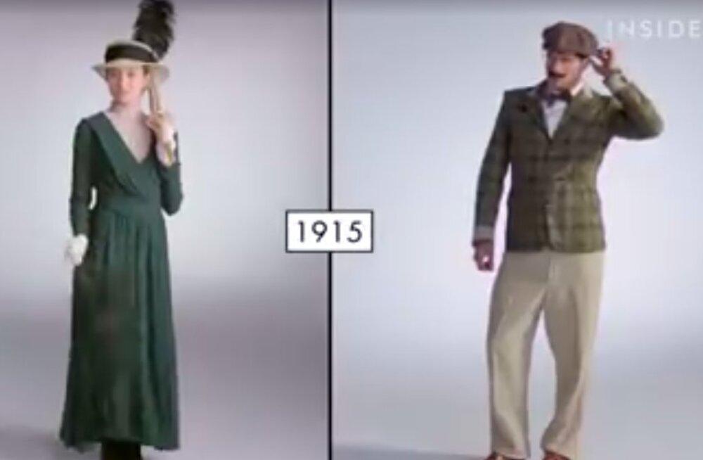 VIDEO: 100 aastat moeajalugu! Vaata, kuidas on rõivatrendid sajandi vältel muutunud