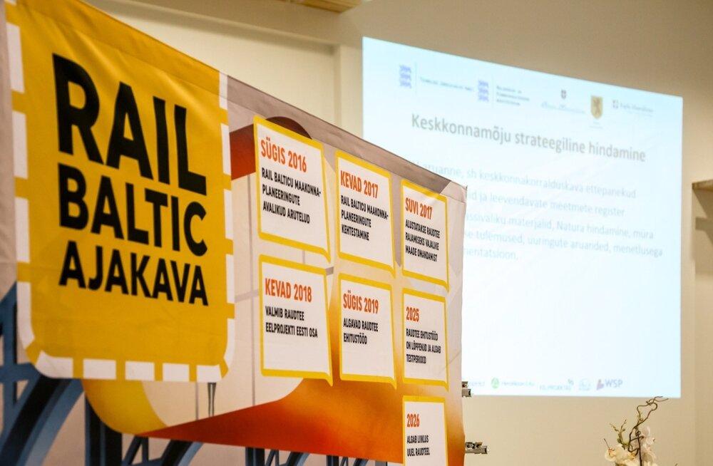 Rail Baltic tutvustamine Pärnumaal
