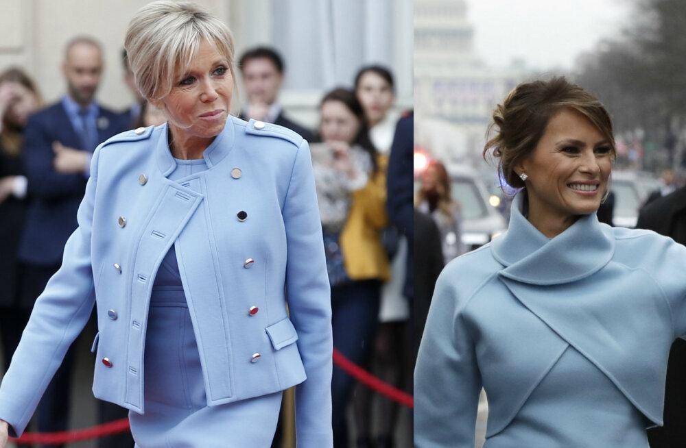 ФОТО: Бриджит Макрон скопировала наряд Мелании Трамп?