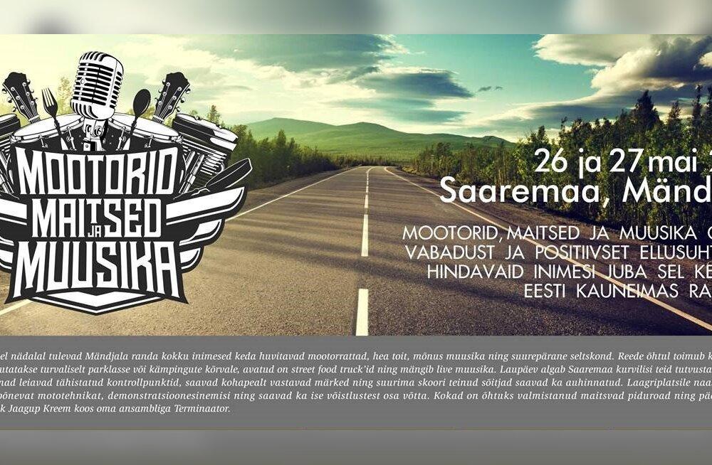"""Saaremaal toimuv motosündmus """"Mootorid, Maitsed ja Muusika"""" pakub põnevust nii motoekspertidele kui ka asjaarmastajatele"""