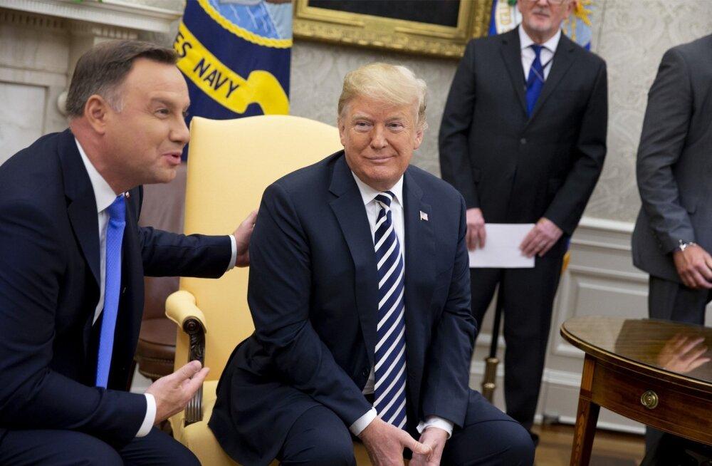 Poola president Andrzej Duda otsustas üleeile Valges Majas USA riigipea Donald Trumpiga kohtudes valida meelituste tee.
