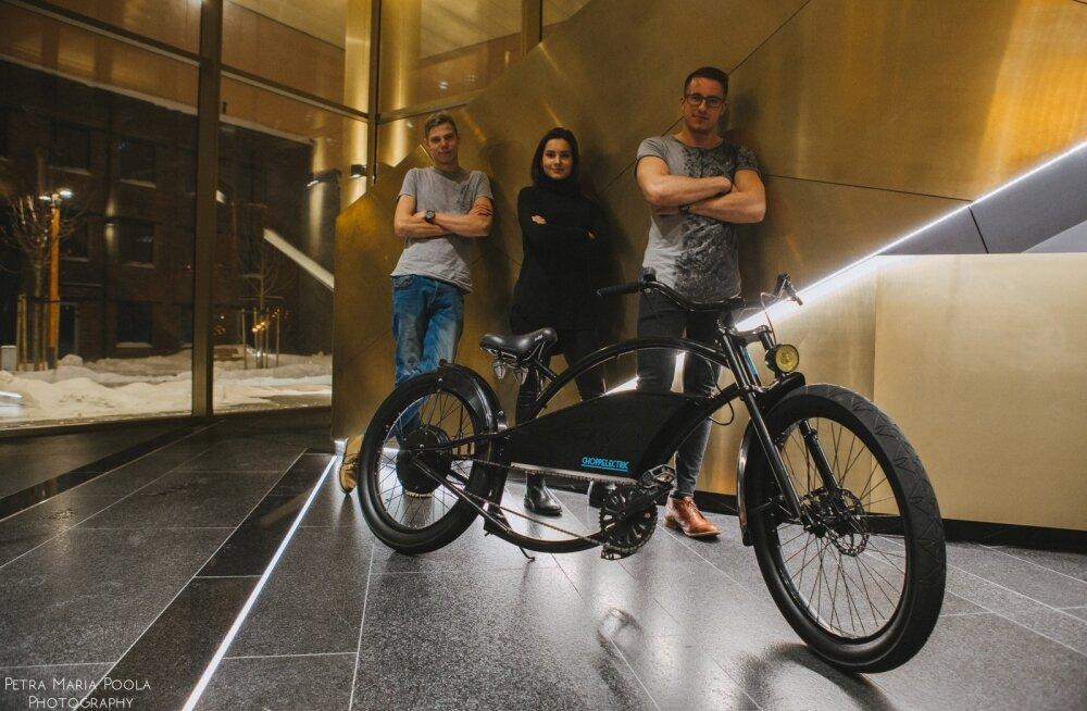 Choppelectric ja selle loojad. Vasakult Sten Ottep, Johanna Sepp, Markus Kaljuste