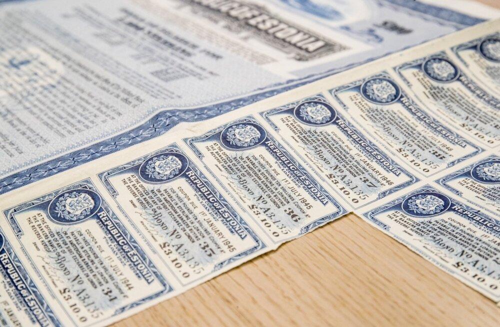 Eesti Vabariigi võlakirja kupongid