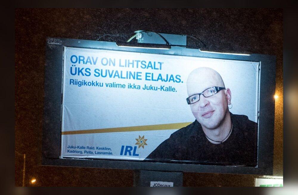 Juku-Kalle Raidi valimisplakatid