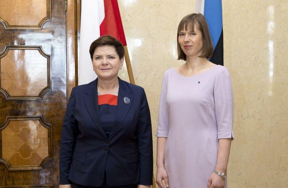 FOTO: President Kersti Kaljulaid kohtus Poola peaministri Beata Szydłoga, jutuks tuli ka Rail Baltic