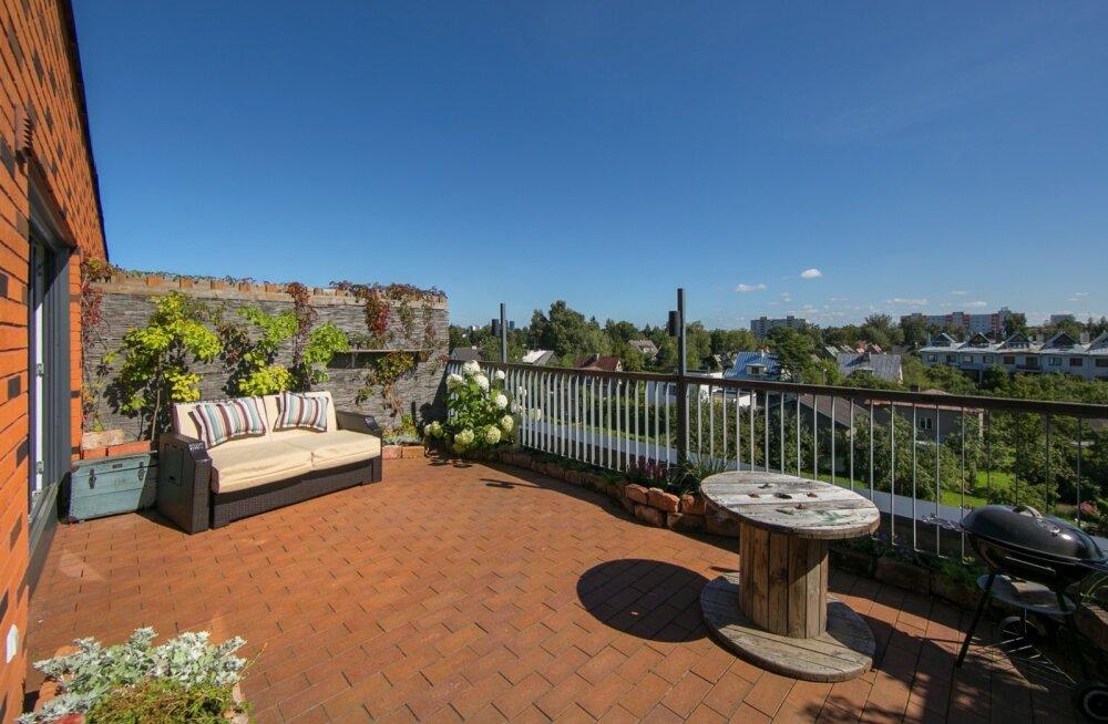 Oivalisest terrassist inspireeritud hubane kodu