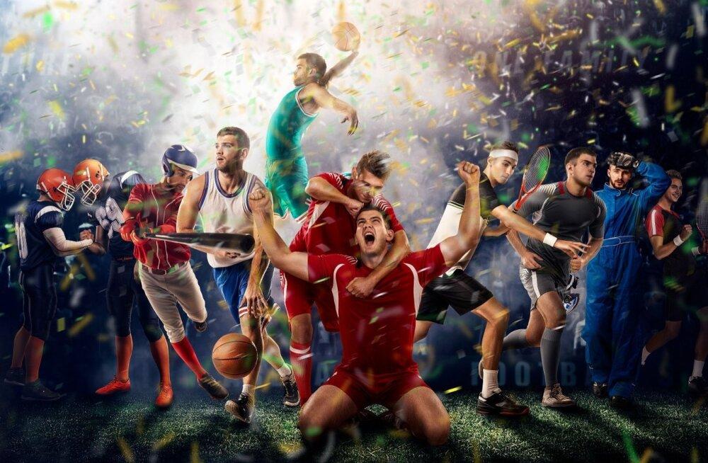 Spordialade valik on kirju