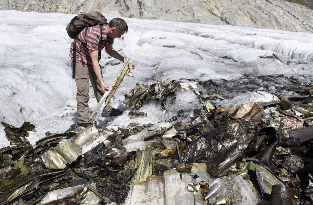 Kuumalaine sulatas Šveitsi liustikust välja aastakümneid kadunud lennuki