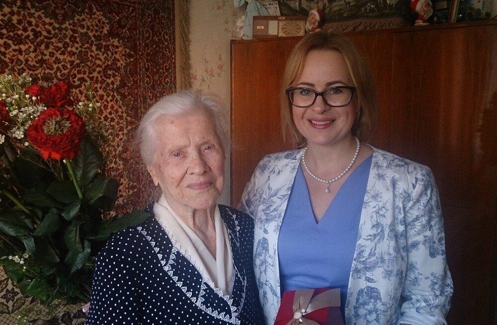 Жительница Ласнамяэ Мария Гриднева отметила столетний юбилей