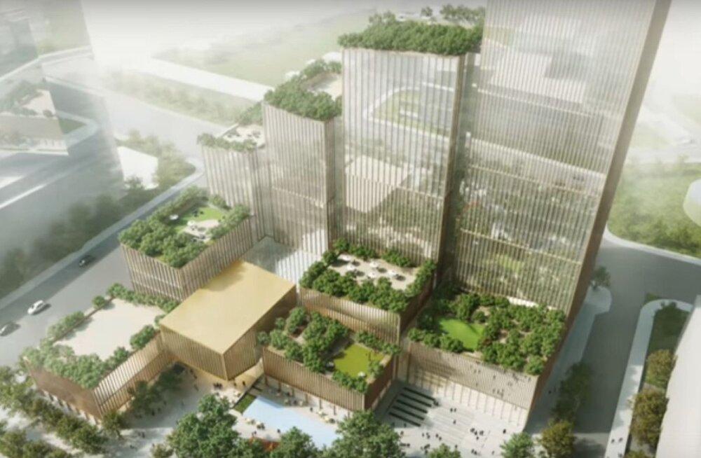 Arhitektuuriga loodusjõudude vastu | Linna keskväljakut püütakse külmade tuulte eest kaitsta ehitiste kompleksiga