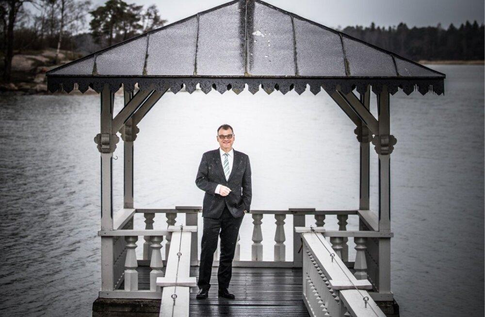 Soome peaminister Juha Sipilä Helsingis Meilahti ääres Kesäranta-nimelises peaministrite ametlikus residentsis