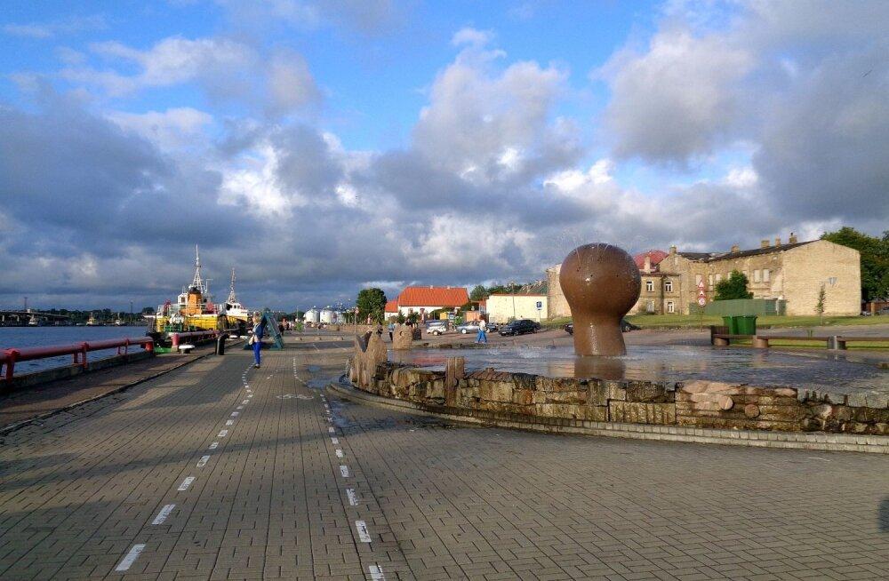 ФОТО читателя Delfi: Вентспилс — город цветов, фонтанов и коров