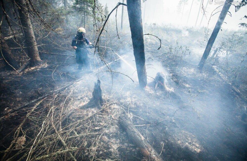 Metsatulekahju Märjamaal, Russalu külas