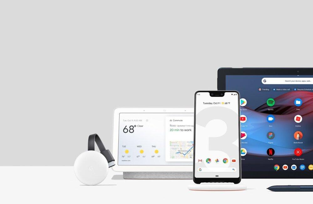 Google näitas uut kraami, ka tänavusi tipptelefone Pixel 3 ja 3 XL
