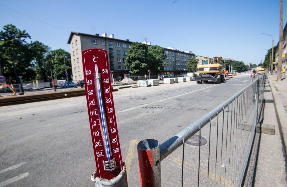 Ükski seadus Eestis ei määra temperatuuri, mille korral enam tööd teha ei tohi.