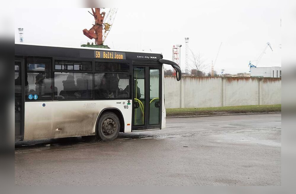 Транспортная ситуация на Пальяссааре: грязные автобусы и травмоопасные дороги?