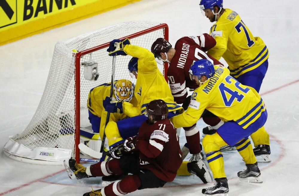 Jäähoki Rootsi vs Läti