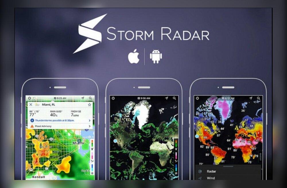 Päevakohane mobiilirakendus: tormiäpp Storm Radar